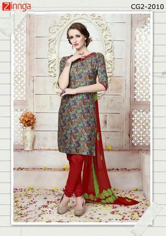 BHAIRAV ONLINE-Women's Beautiful Cotton Unstitched Salwar Kameez  - cg2-2010