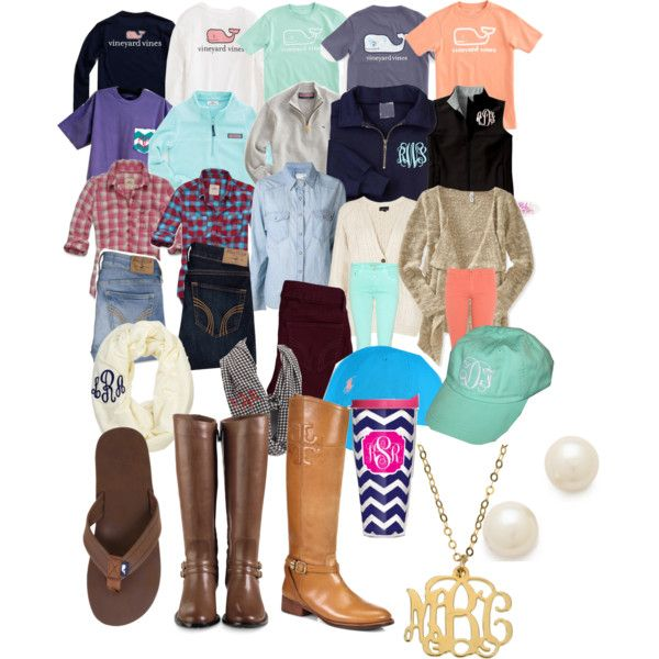How to Be Preppy ( Basics ) by sarinaalily, via Polyvore