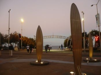 Gold Coast - the view of Surfers Paradise beach from Cavill Avenue at dusk #Gold Coast