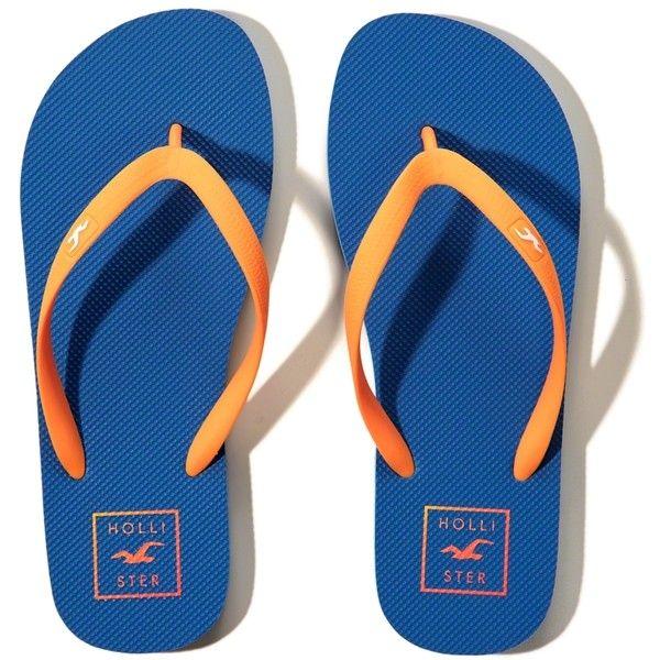 Hollister Rubber Icon Flip-Flops (190 MXN) ❤ liked on Polyvore featuring men's fashion, men's shoes, men's sandals, men's flip flops, blue, mens rubber shoes, mens blue shoes, mens leopard print shoes and mens rubber flip flops