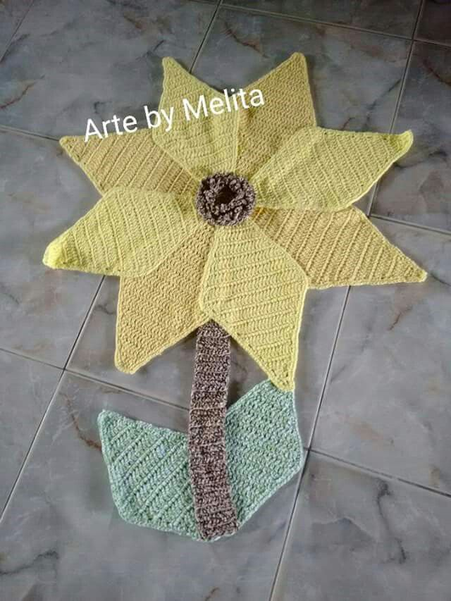 Tapete em formato de flor -. Medindo 72 cm