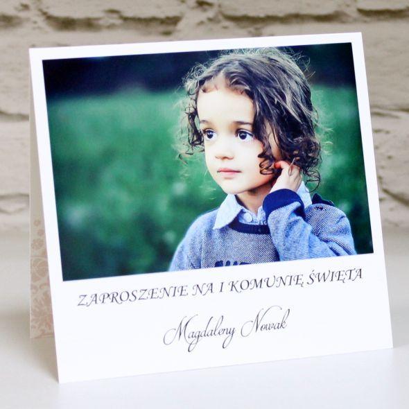 Zaproszenie Na I Komunie Swieta Z Kolorowa Grafika I Zdjeciem Waszego Dziecka Film Polaroid Film
