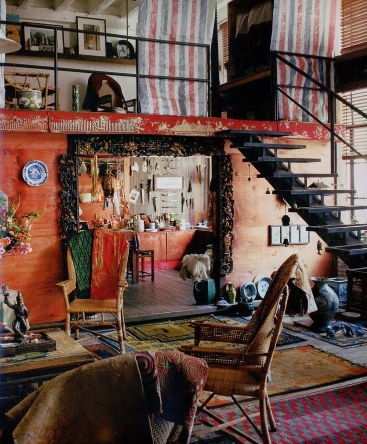 La Maison Boheme Home Tour French Painter Christian De Laubad Re Boho Gypsy Hippie Decor