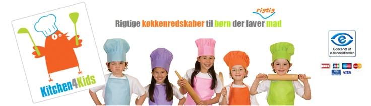 Velkommen til Kitchen4Kids - Kitchen for kids! Vi har RIGTIGE køkkenredskaber til børn og juniorer, der laver RIGTIG mad. Tryg og sikker handel. Super kundeservice. Fri fragt v køb over 500 kr.