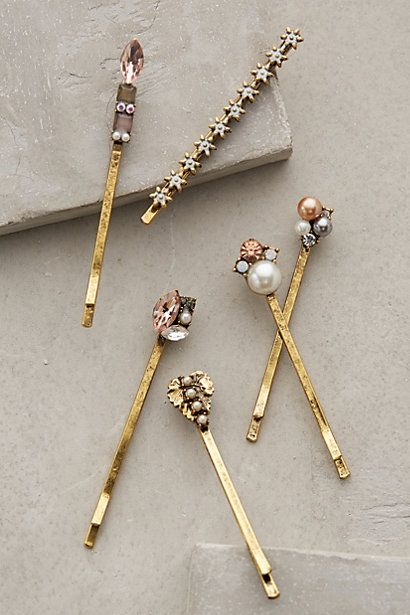 Starlight bobbypins -- so cute for the bride or bridesmaids