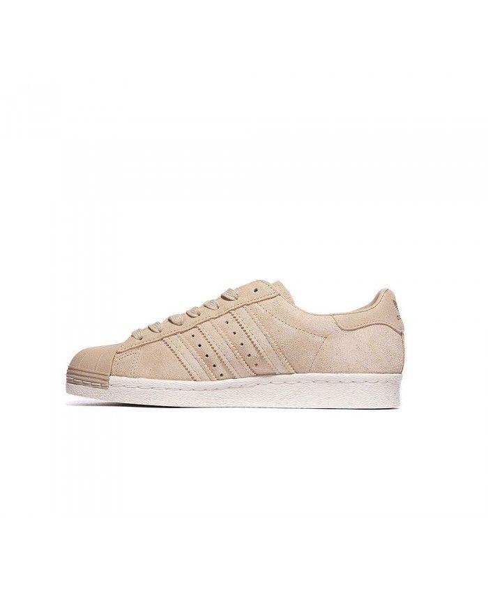 super popular 8cef0 253b5 Cheap Adidas Originals Womens Superstar 80S Trainer Linen Khaki Gold Sale UK