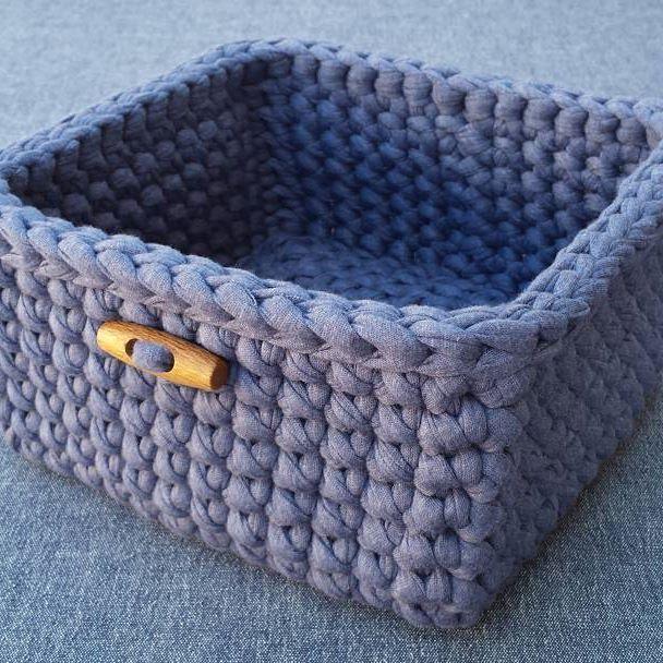 #tshirtyarn #trapillo #crochet #crocheting #crochetbasket #handmade #homedecor