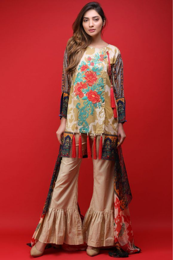 bf587b68aa Warda Latest Summer Dresses Printed & Embroidered Collection 2019 ...
