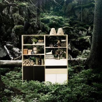 Shelf with doors and drawers, by Lundia.