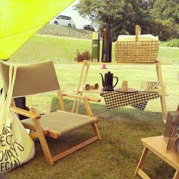 デイキャンプなら必要最小限の荷物ででかけられます。ピクニックの延長で楽しんでデイキャンプを楽しんでみましょう♪