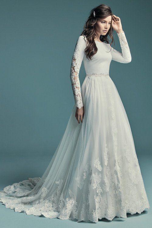 722ba01db47ac Long-sleeve wedding dress - Olyssia by Maggie Sottero. See more Maggie  Sottero Wedding Dresses on WeddingWire!