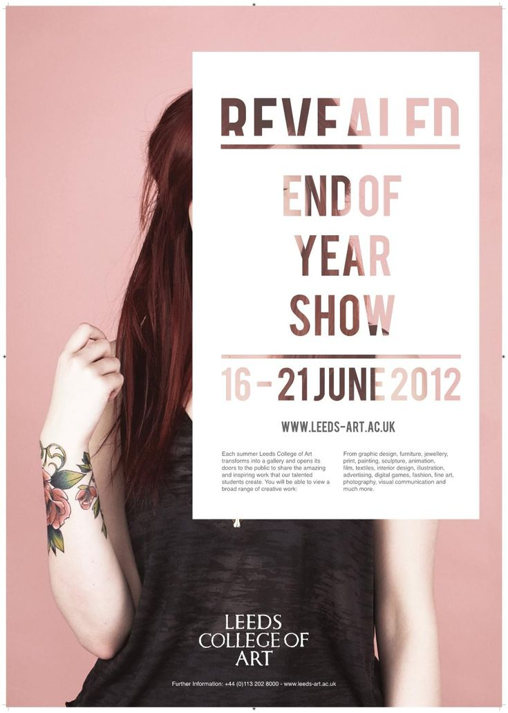 A1 Posters  Leeds College of Art designs for End of Year Show sent to print