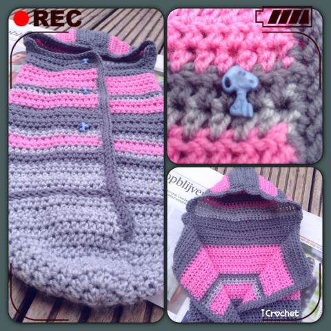 61 best crochet baby blanket/ bunting bag images on Pinterest ...