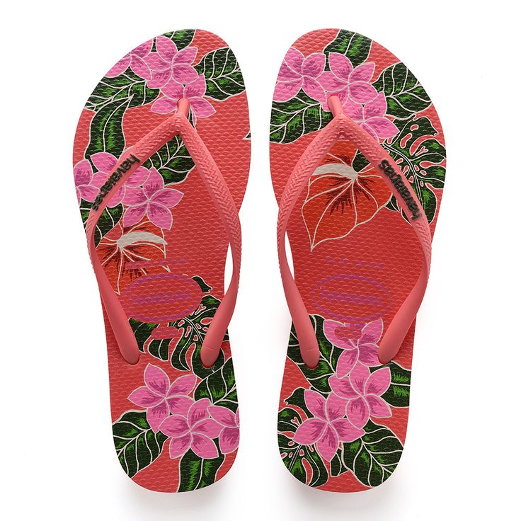 Havaianas Slim Floral Sandal Coral  Price From: 35,38$CA  https://flopstore.ca/ca_french/new-arrivals/havaianas-slim-floral-sandal-coral.html