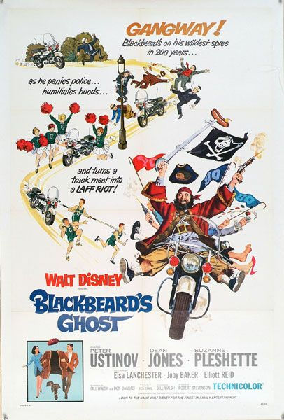 Blackbeards Ghost   (*now this one always made me totally crack up..and to this day any movie where it looks like the main character is talking to himself makes me fall over laughing... but dean jones did it best. and who doesn't love Peter Ustinov -Mel*)