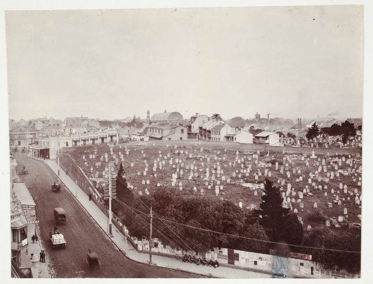 Sandhills Cematery, Devonshire Street, Surry Hills. Now Central & Redfern train stations. #1/2  State LIbrary, NSW