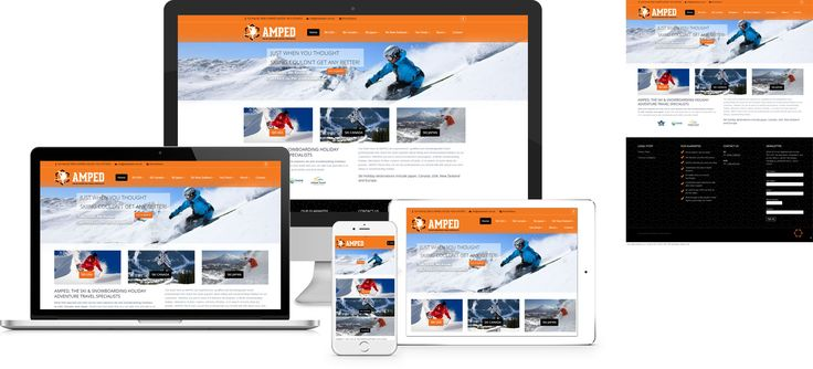 Amped4Ski - website design by Forge Online http://www.forgeonline.co.nz/google-adwords/