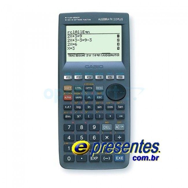 Super Calculadora Gráfica CASIO ALGEBRA FX 2.0 PLUS + 1500 funções
