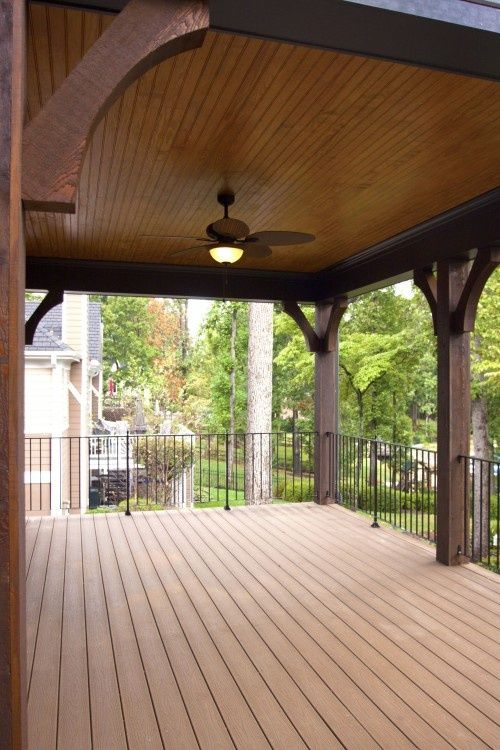 Really like the ceiling!  Covered deck - would love to sit here when it's raining...