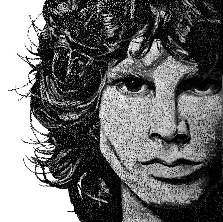 THE END. Jim Morrison  Anna Lopopolo Painted by words  www.annalopopolo.it  #jimmorrison #annalopopolo #paintedwords
