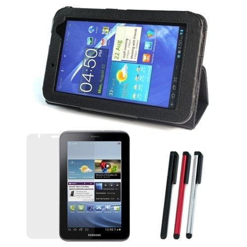 Bought this to go with the Samsung Galaxy tab :D   ♥ Swagbucks    GTMax Black Leather Case Folio Easy-View with Built-in Stand + LCD Screen Protector + 2 Pack of Universal Stylus Pen (Sliver + Black) With Screen Cleaner Keychain Strap for Samsung Galaxy Tab: Leather Case