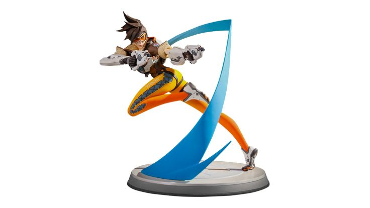 Overwatch Tracer Statue 360 view