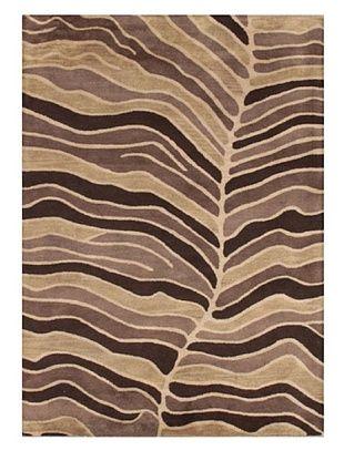 Mili Designs NYC Leaf Patterned Rug, Tan/Multi, 5' x 8'