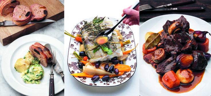 Torsk, kjøttpudding og boeuf bourguignon