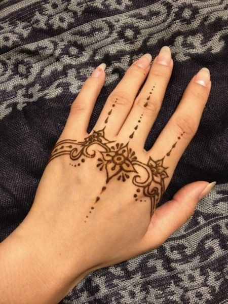 13 Unique Henna Designs Doing The Rounds This Wessing: Unique Hand Henna Tattoos Egodesigns