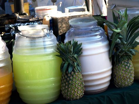 Aguas Frescas~T~ so many different recipes-Tamarind Water,Banana water, Rice water, Prickly Pear water, Walnut Horchata, Oatmeal water, Hibiscus Flower water, Chia Seed water, Cucumber Water, Watermelon water, Strawberry water, Strawberry Milk Drink, Lemon and Mint water and Lime water.