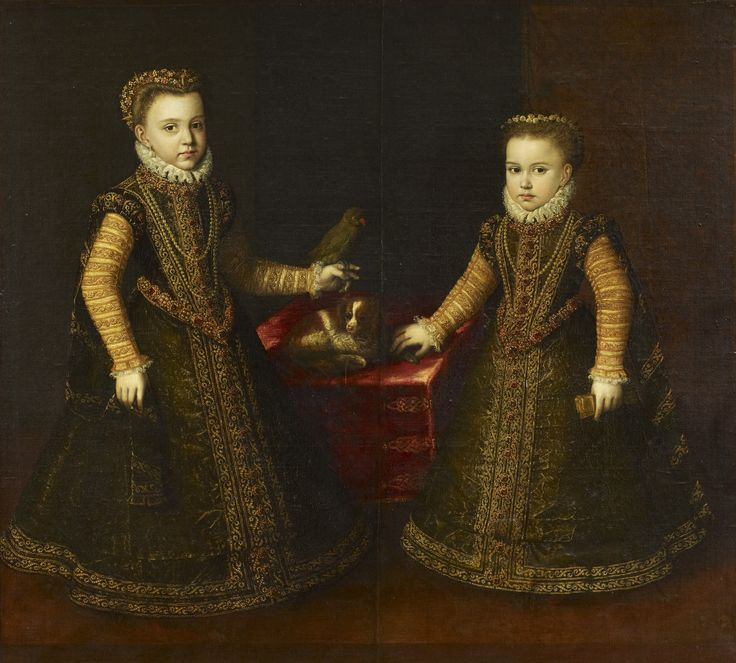 Attributed to the studio of Alonso Sánchez Coello. Isabella Clara Eugenia and Catharina, Daughters of Philip II, King of Spain, 1550-1600