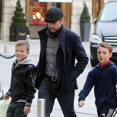 Actor Patrick Dempsey arrives at Ritz Hotel in Paris with his twins Darby and Sullivan(326795)