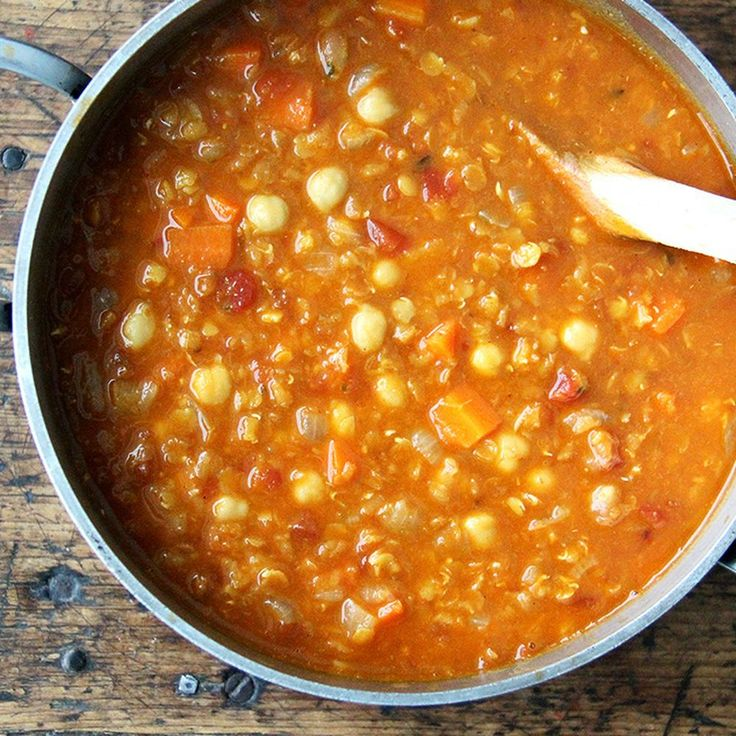 Curried Chickpea and Red Lentil Soup recipe on Food52