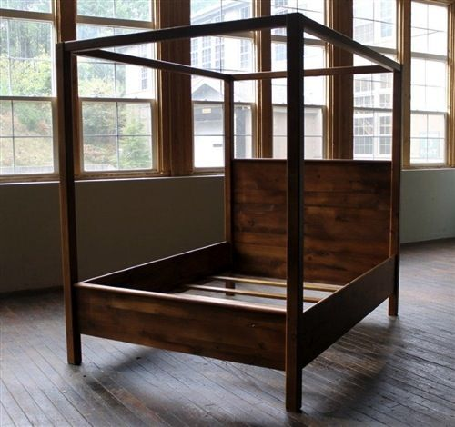 Rustic Farmhouse Canopy Bed - Need to figure out if we could build this ourselves