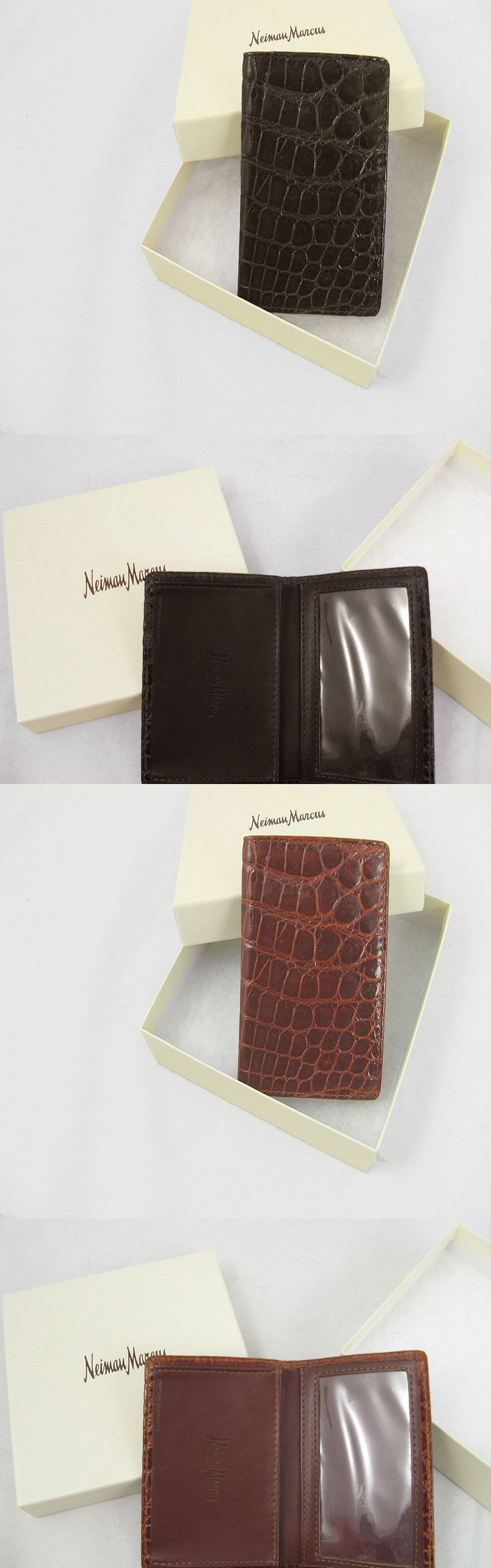 Business and Credit Card Cases 105860: New! Neiman Marcus Genuine Crocodile Business Card Holder! *Brown Or Rust* -> BUY IT NOW ONLY: $119.99 on eBay!
