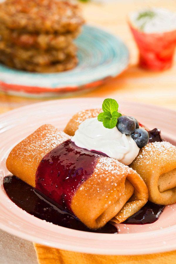 Blueberry Blintzes | Foodlicious Vegan Recipes | Pinterest