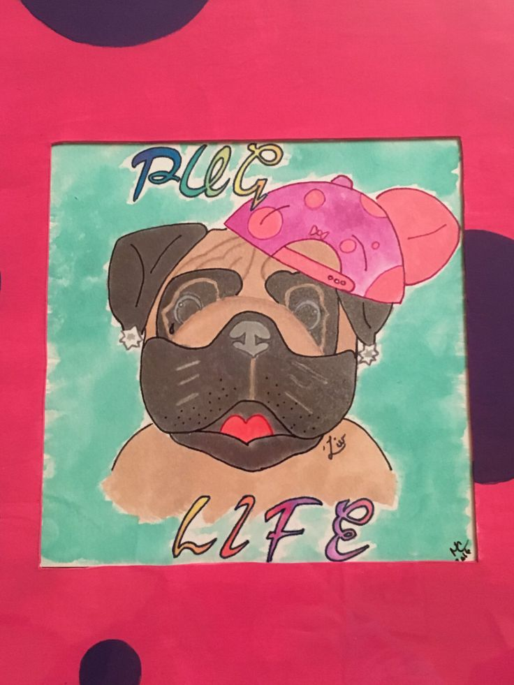 A personal favorite from my Etsy shop https://www.etsy.com/listing/385133144/pug-life