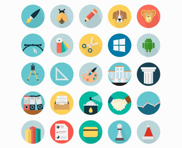 Icons Mind: 50 Iconos Planos