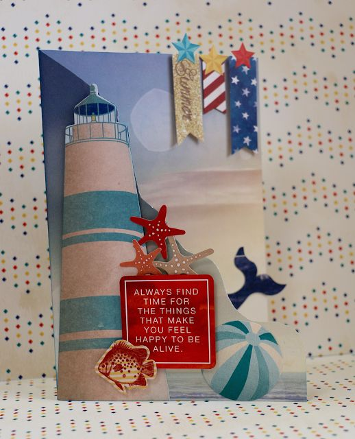BoBunny: What Do You Do In The Summertime? Make this fabulous Boardwalk Card. #BoBunny