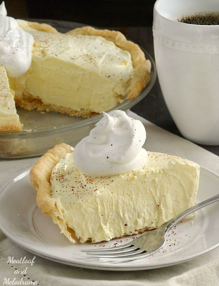 This easy no bake Eggnog Pie has won a permanent place on our Thanksgiving and Christmas dessert menus. It's light, fluffy and a family favorite!