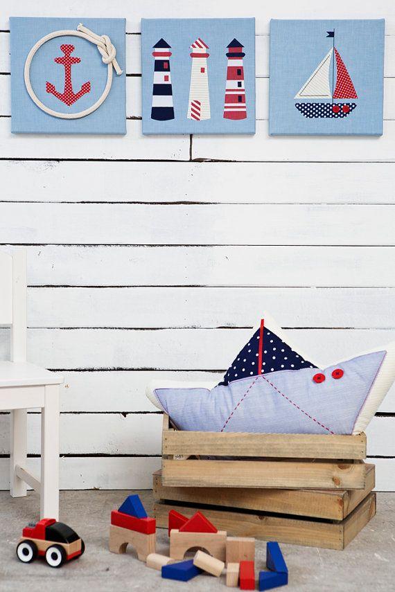 Baby crib mobile Nautical mobile sailboats decor by Nuppi