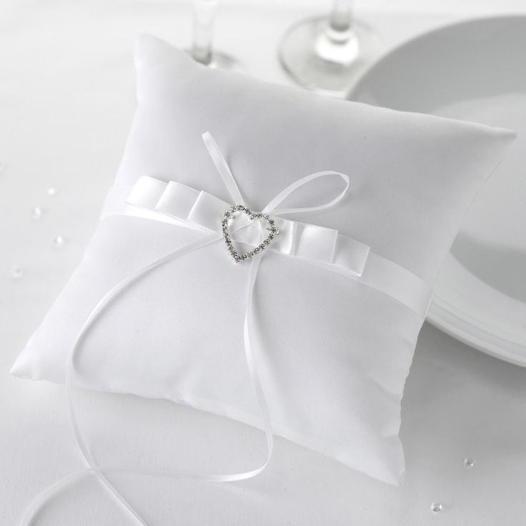 Contemporary Heart - Ring Cushion - Weddings