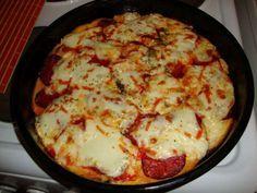 Sajtos mozzarellás pizza egy tucat száraz kenyérből!