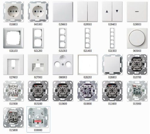 GIRA System 55 reinweiß glänzend, Schalter & Steckdosen