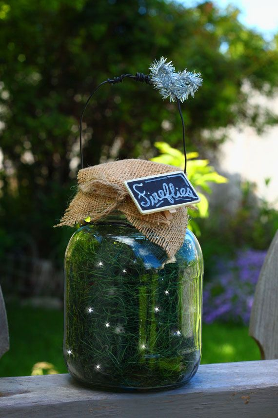 """Catch"" some fireflies in a jar to light up your summer nights."