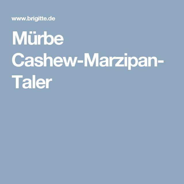 Mürbe Cashew-Marzipan-Taler
