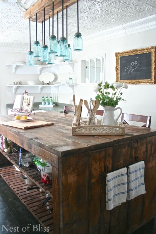DIY Chalkboard Made With A Picture Frame- love. Table- love. Ceiling- love!