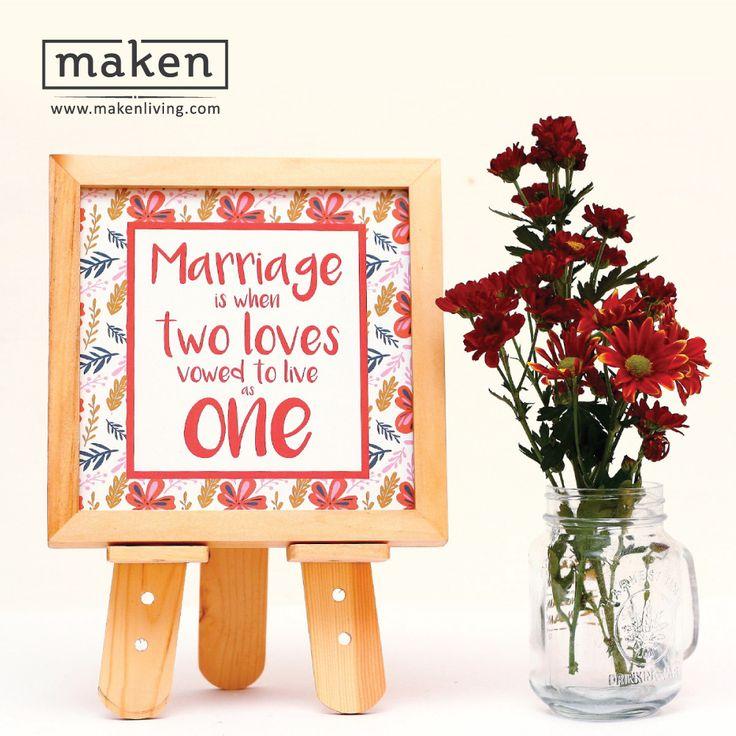 """Vowed To Live as One - AUG15-05 Sebagai kado pernikahan yang """"distinctive"""", desain ini bisa menyampaikan doa dan harapan kita kepada pengantin. Membuat mereka lebih berbahagia dan dapat memperindah rumah dan rumah tangga mereka."""