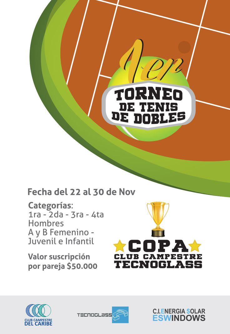 Cliente: Club Campestre, Copa Club Campestre Tecnoglass, Torneo de Tenis de Dobles