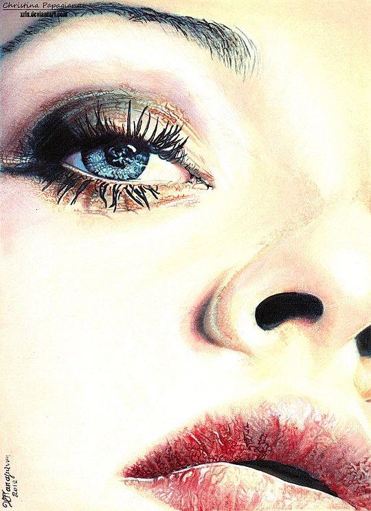 Realistic Portraits by Christina Papagianni #illustration #illustrations #realistic #portrait #art